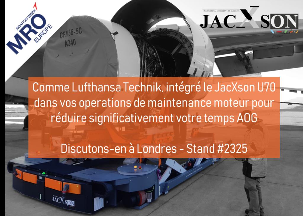 Lufthansa Technik s'équipe d'un JacXson U70 pour la maintenance de ses avions de ligne.