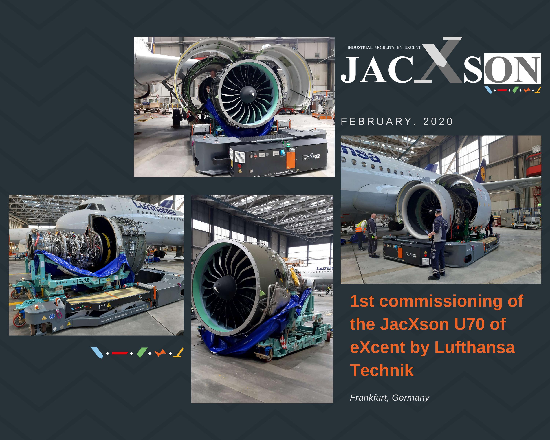Manipulation du JacXson U70 dans les locaux de Lufthansa Technik